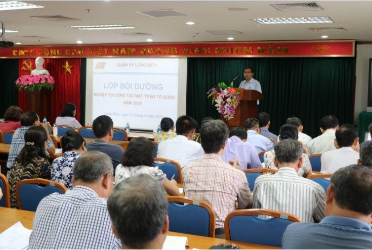 Ủy ban MTTQ Việt Nam quận Long Biên tập huấn nghiệp vụ công tác Mặt trận năm 2019