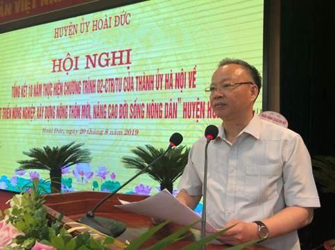 Huyện ủy Hoài Đức tổ chức tổng kết 10 năm thực hiện chương trình số 02  của Thành ủy Hà Nội