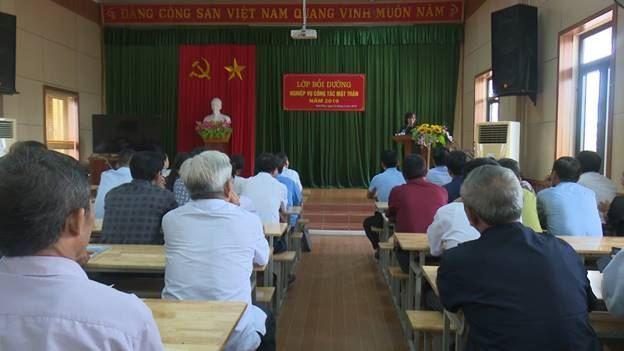 Ủy ban MTTQ Việt Nam huyện Hoài Đức khai mạc lớp tập huấn nghiệp vụ công tác Mặt trận năm 2019