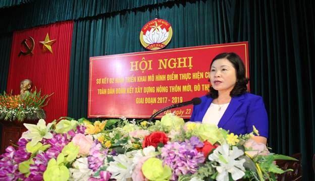 Huyện Thạch Thất tổ chức sơ kết 2 năm triển khai mô hình điểm thực hiện cuộc vận động Toàn dân đoàn kết xây dựng nông thôn mới, đô thị văn minh.