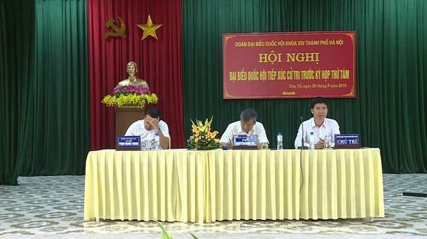 Đoàn đại biểu Quốc Hội TP tiếp xúc với cử tri huyện Đông Anh trước kỳ họp thứ 8, Quốc Hội khóa XIV