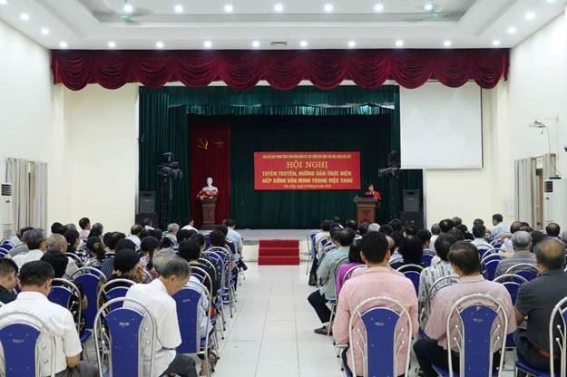 Ủy ban MTTQ Việt Nam quận Cầu Giấy tổ chức hội nghị tuyên truyền hướng dẫn thực hiện nếp sống văn minh trong việc tang