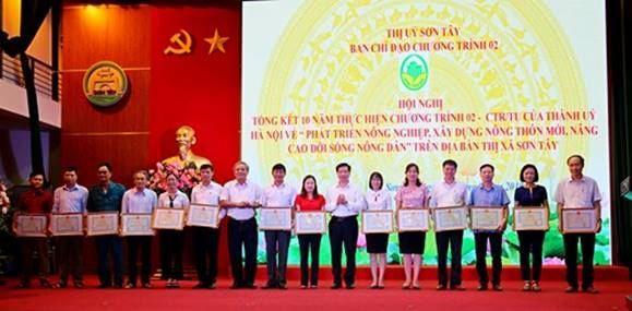Thị xã Sơn Tây tổng kết 10 thực hiện chương trình 02-Ctr/TU của Thành ủy Hà Nội.