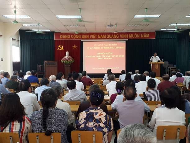 Quận Nam Từ Liêm tổ chức bồi dưỡng nghiệp vụ công tác Mặt trận đợt 2 năm 2019