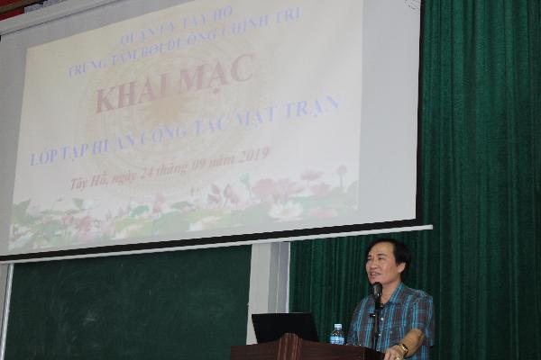 Ủy ban MTTQ Việt Nam quận Tây Hồ tổ chức lớp tập huấn công tác Mặt trận năm 2019