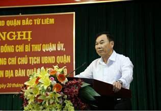 Lãnh đạo quận Bắc Từ Liêm đối thoại với Nhân dân.