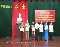 Huyện Ba Vì: Hội nghị sơ kết 03 năm thực hiện Chỉ thị 05- CT/TW ngày 15/5/2016 của Bộ chính trị gắn với kỷ niệm 50 năm thực hiện di chúc của Chủ tịch Hồ Chí Minh