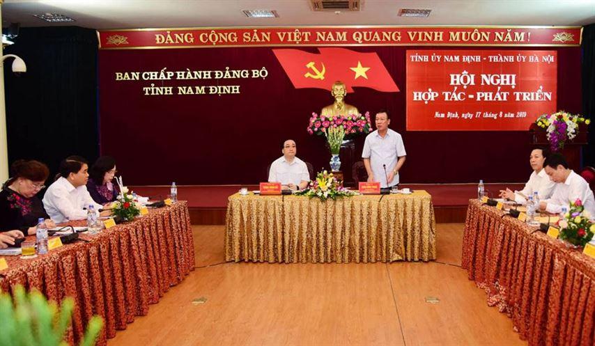 TP Hà Nội và tỉnh Nam Định tăng cường hợp tác, phát triển