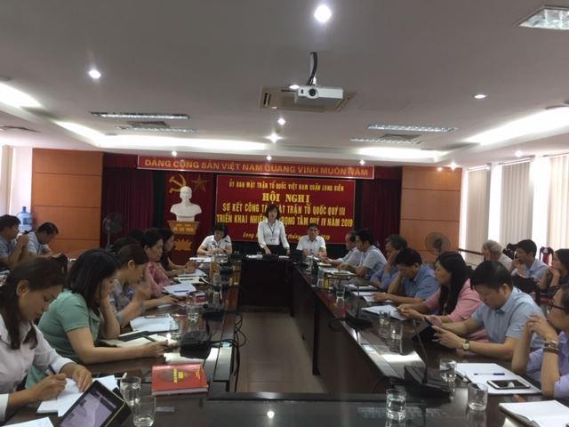 Huyện Long Biên sơ kết công tác MTTQ quận 9 tháng năm 2019