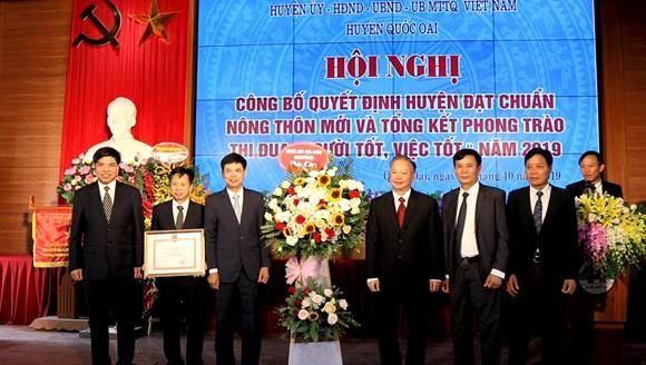 Huyện Quốc Oai công bố Quyết định huyện đạt chuẩn nông thôn mới