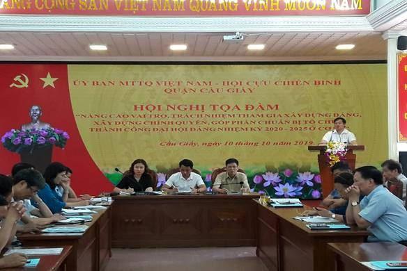 Tọa đàm Nâng cao vai trò trách nhiệm của MTTQ - Hội Cựu chiến binh quận Cầu Giấy tham gia xây dựng Đảng, xây dựng chính quyền