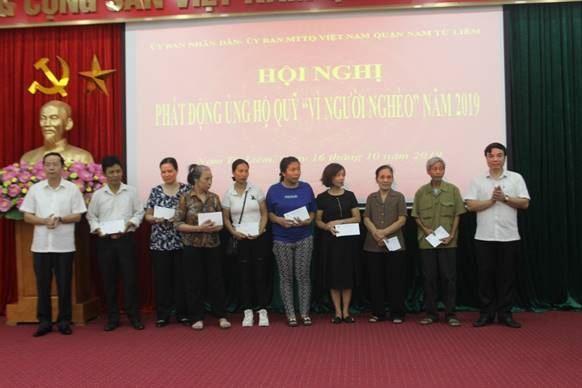 """Quận Nam Từ Liêm tổ chức hội nghị phát động ủng hộ quỹ """"Vì người nghèo"""" năm 2019"""