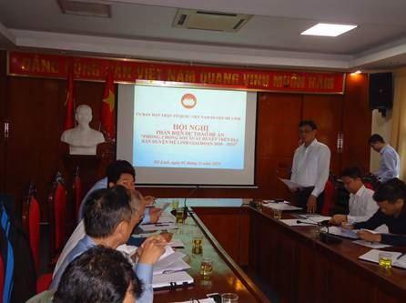 """Huyện Mê Linh tổ chức Hội nghị Phản biện vào dự thảo Đề án """"Phòng, chống sốt xuất huyết trên địa bàn huyện Mê Linh giai đoạn 2020 – 2024""""."""