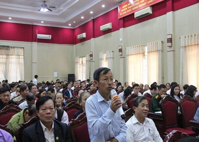 Huyện Thạch Thất tổ chức hội nghị tiếp xúc, đối thoại giữa người đứng đầu cấp ủy, chính quyền với MTTQ, các tổ chức chính trị - xã hội và Nhân dân năm 2019