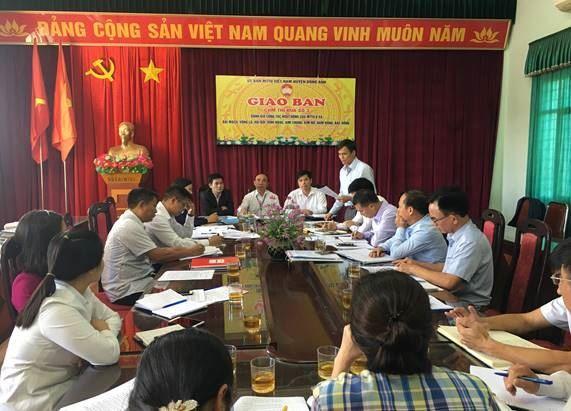 Ủy ban MTTQ Việt Nam huyện Đông Anh tổ chức giao ban cụm thi đua của huyện năm 2019
