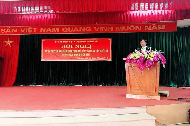 Ủy ban MTTQ Việt Nam huyện Thạch Thất tuyên truyền thực hiện chính sách đối với đồng bào dân tộc thiểu số trên địa bàn huyện.