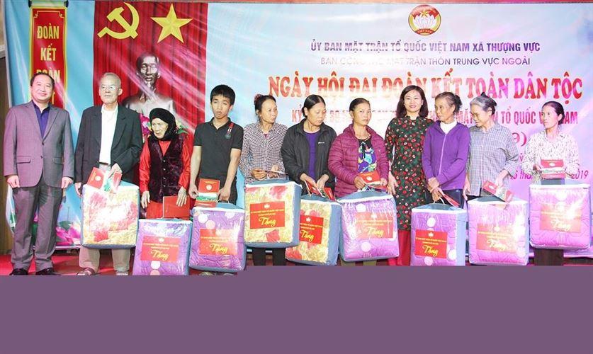 Lãnh đạo Ban Dân vận Trung ương và Ban Dân vận Thành ủy Hà Nội dự Ngày hội đại đoàn kết toàn dân tộc tại thôn Trung Vực Ngoài
