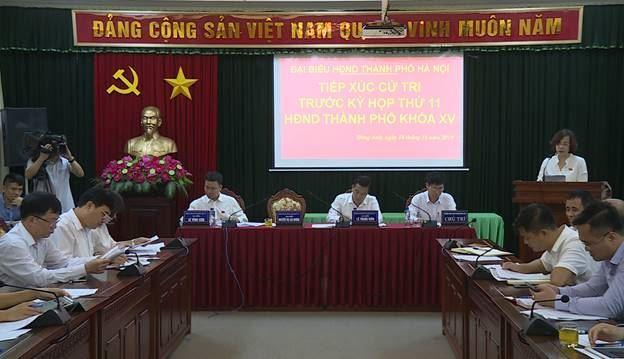 Hội nghị tiếp xúc với cử tri Đông Anh trước kỳ họp thứ 11 HĐND Thành phố khóa XV