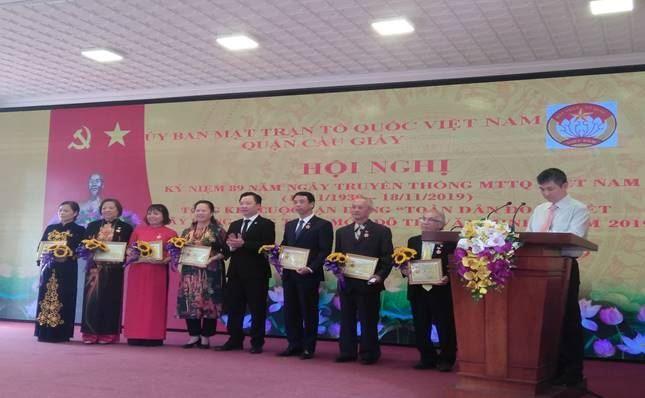 Ủy ban MTTQ Việt Nam quận Cầu Giấy kỷ niệm 89 năm ngày truyền thống MTTQ Việt Nam (18/11/1930-18/11/2019)
