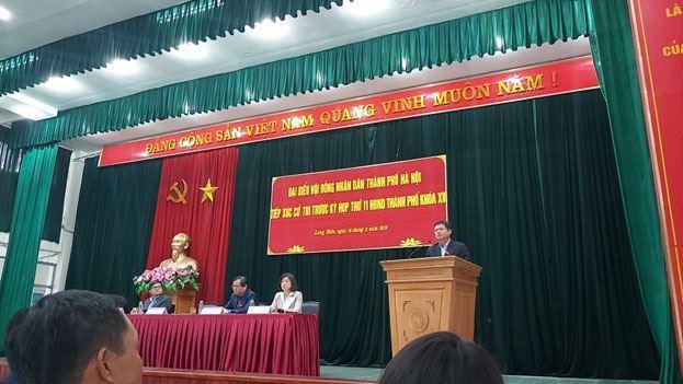 Đại biểu HĐND Thành phố Hà Nội tiếp xúc cử tri trước kỳ họp thứ 11, HĐND thành phố khoá XV