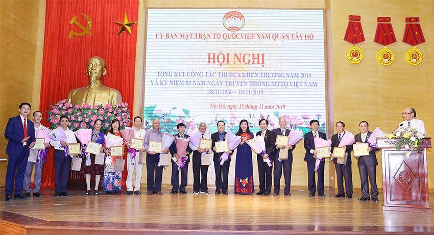 MTTQ Việt Nam quận Tây Hồ tổ chức tổng phong trào thi đua năm 2019
