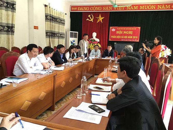 Phản biện xã hội vào Dự thảo báo cáo của UBND huyện Ứng Hòa đánh giá tình hình thực hiện nhiệm vụ phát triển kinh - tế xã hội năm 2019
