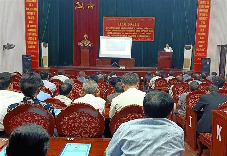 Ủy ban MTTQ huyện Gia Lâm phối hợp tổ chức Hội nghị tuyên truyền giao thông