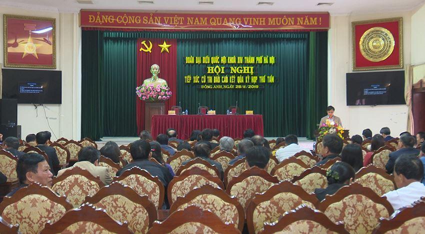 Đoàn Đại biểu Quốc hội khoá 14 Thành phố Hà Nội tiếp xúc cử tri huyện Đông Anh sau kỳ họp thứ 8