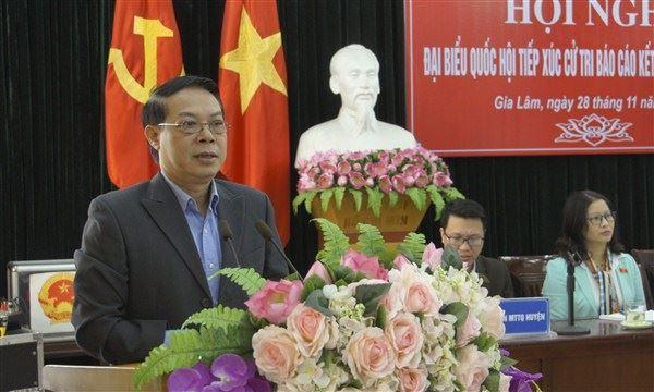 Đoàn đại biểu Quốc hội TP Hà Nội tiếp xúc cử tri Gia Lâm