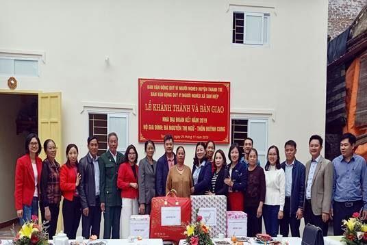"""Huyện Thanh Trì bàn giao nhà Đại đoàn kết tại xã Tam Hiệp  nhân tháng cao điểm """"Vì người nghèo"""""""