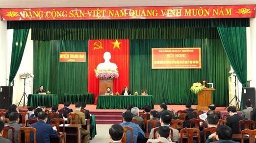 Đoàn đại biểu Quốc hội TP Hà Nội tiếp xúc cử tri huyện Thanh Oai sau kỳ họp thứ 8, Quốc hội khóa XIV