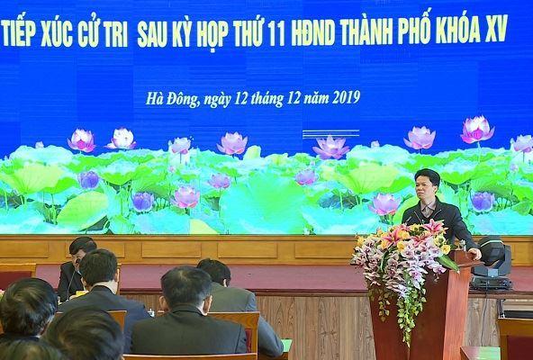 Tổ đại biểu số 10 HĐND TP tiếp xúc cử tri quận Hà Đông sau kỳ họp thứ 11 HĐND TP khóa XV