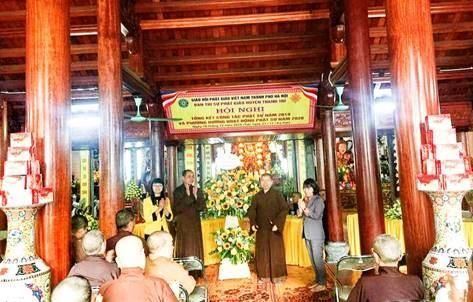 Huyện Thanh Trì tổng kết công tác Phật sự năm 2019, phương hướng hoạt động năm 2020