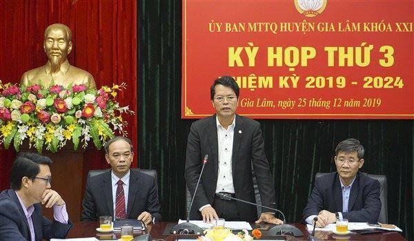 Kỳ họp thứ 3, Ủy ban MTTQ Việt Nam huyện Gia Lâm khóa XXI, nhiệm kỳ 2019 - 2024