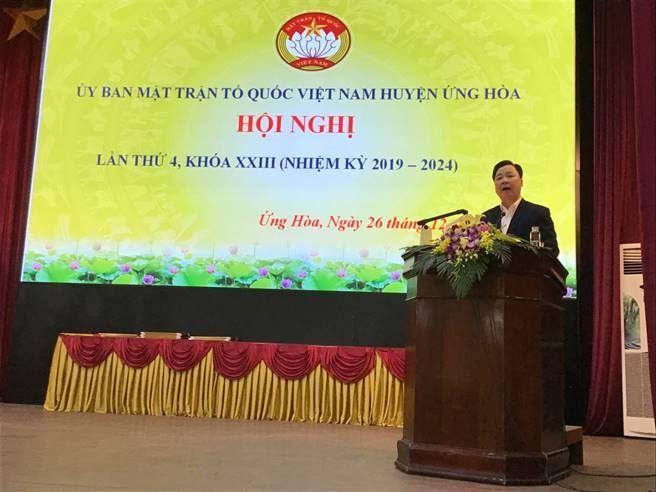 Huyện Ứng Hòa tổ chức hội nghị tổng kết công tác Mặt trận năm 2019, triển khai nhiệm vụ trọng tâm năm 2020