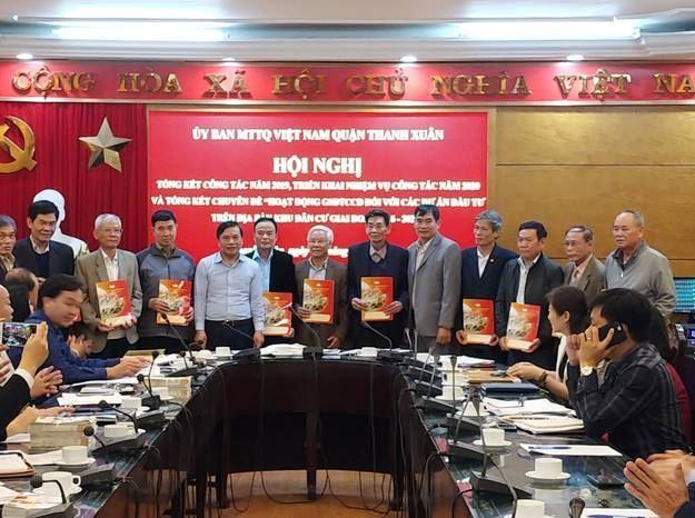 Quận Thanh Xuân tổ chức tổng kết công tác Mặt trận năm 2019, triển khai nhiệm vụ công tác năm 2020.