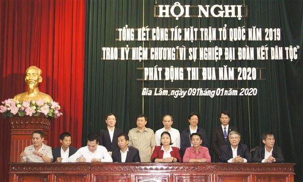 Ủy ban MTTQ Việt Nam huyện Gia Lâm tổng kết công tác Mặt trận năm 2019