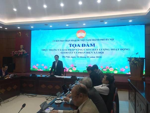 Thực trạng và giải pháp nâng cao chất lượng hoạt động giám sát và phản biện xã hội của MTTQ các cấp thành phố Hà Nội