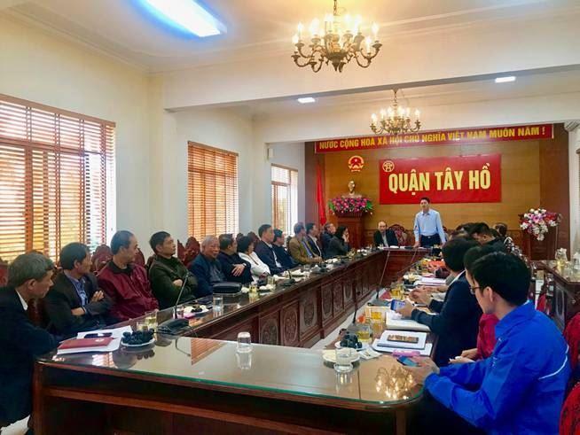 Ủy ban MTTQ Việt Nam quận Tây Hồ lại tổ chức gặp mặt chúc tết các đồng cán bộ MTTQ  nghỉ hưu
