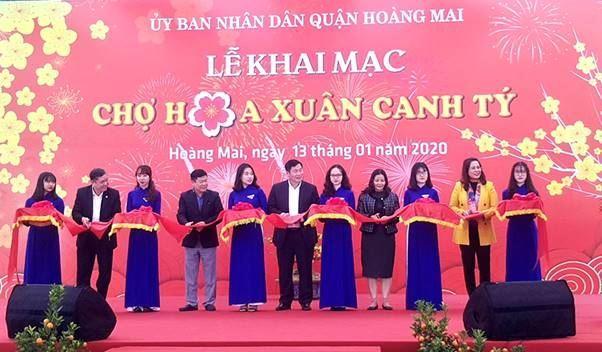 Quận Hoàng Mai khai mạc chợ hoa Xuân Canh Tý 2020
