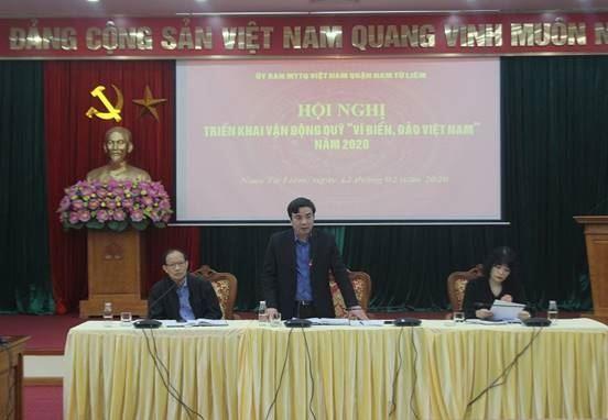 Quận Nam Từ Liêm triển khai kế hoạch phát động ủng hộ  quỹ Vì biển đảo Việt Nam năm 2020