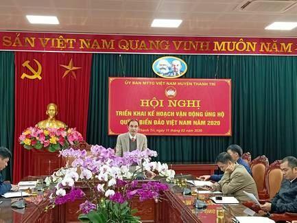 Thanh Trì triển khai kế hoạch tổ chức vận động ủng hộ quỹ  Vì  Biển đảo Việt Nam năm 2020