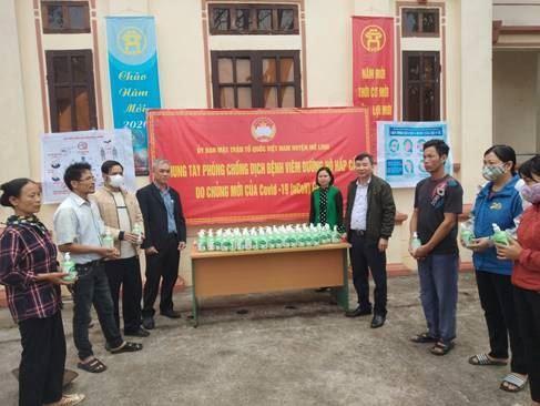 """Ủy ban MTTQ Việt Nam huyện Mê Linh tổ chức Chương trình """"Chung tay phòng, chống dịch bệnh viêm đường hô hấp cấp do chủng mới của vi rút COVID-19 (nCoV)"""" gây ra."""
