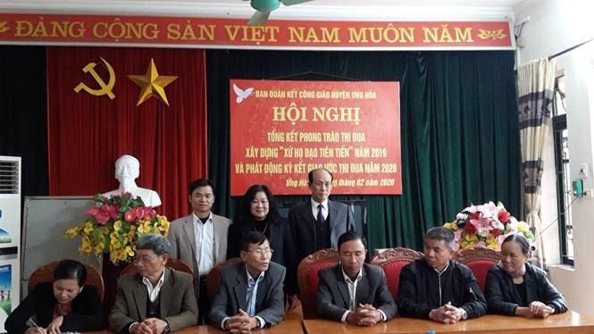 Huyện Ứng Hòa tổng kết phong trào thi đua yêu nước trong đồng bào Công giáo năm 2019; triển khai nhiệm vụ và ký giao ước thi đua năm 2020