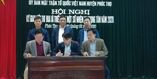 Triển khai nhiệm vụ công tác năm gắn với phát động và ký giao ước thi đua năm 2020 trong hệ thống MTTQ Việt Nam huyện Phúc Thọ