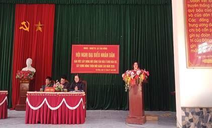 Hội nghị đại biểu nhân dân xã Tản Hồng, huyện Ba Vì năm 2020