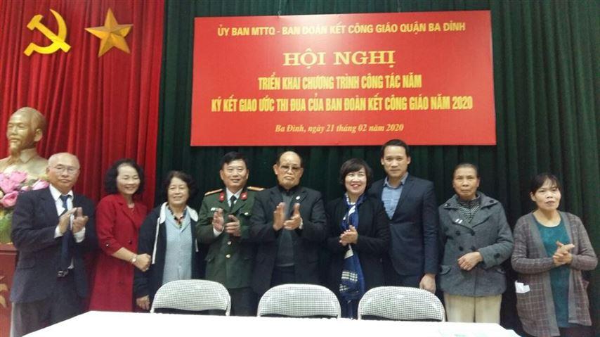 Ban đoàn kết Công giáo quận Ba Đình triển khai chương trình công tác, ký kết giao ước thi đua năm 2020