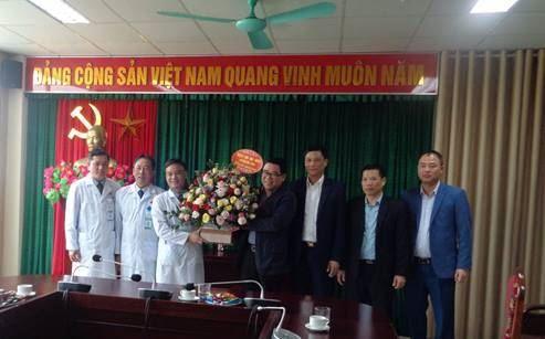 Lãnh đạo huyện Mê Linh thăm, động viên, kiểm ta công tác phòng chống dịch Covid-19 các đơn vị y tế nhân Ngày Thầy thuốc Việt Nam 27/02/2020.
