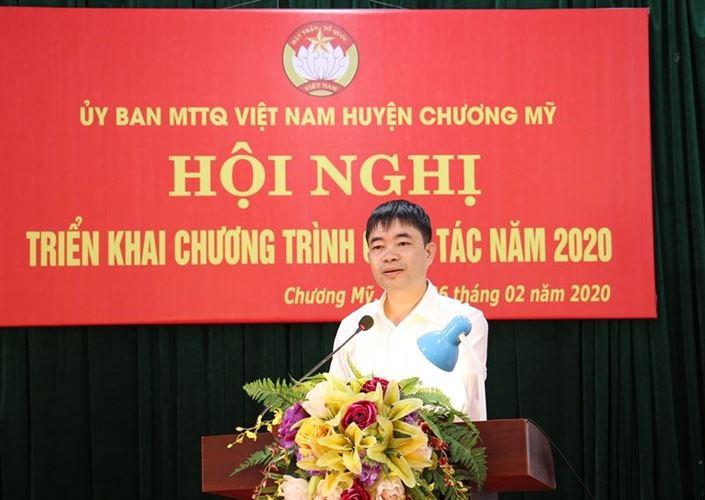 Ủy ban MTTQ Việt Nam huyện Chương Mỹ tổ chức hội nghị triển khai chương trình công tác năm 2020