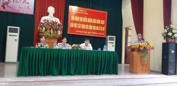 Xã Chương Dương, huyện Thường Tín tổ chức Hội nghị đại biểu nhân dân năm 2020 bàn việc xây dựng đời sống văn hóa ở cơ sở